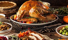 Promotional photo for the Thanksgiving Buffet at Bahia Re...