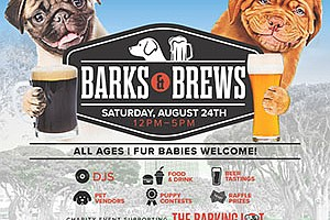 Promotional graphic for Barks & Brews Fest