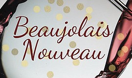 Promo graphic for Beaujolais Nouveau