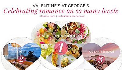 Promotional graphic for the Valentine's Day dinners. Cour...