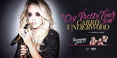 Promotional graphic for Carrie Underwood: The Cry Pretty ...