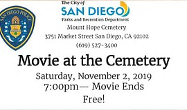 Promotional graphic for Movie at the Cemetery. Courtesy o...