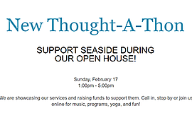 Promo graphic for New Thought-A-Thon & Open House