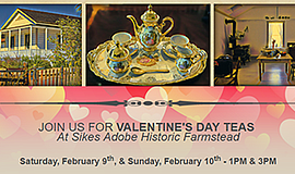 Promotional poster for the Valentine Teas. Courtesy of Si...