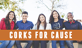 Promo graphic for Carruth Cellars' Corks For A Cause