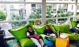 The teen hang out area at San Diego Central Library.