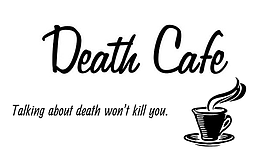 """Promotional graphic for the One Book, One San Diego Death Cafe """"Talking about..."""