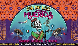 Promotional graphic for the Dia de los Muertos celebratio...