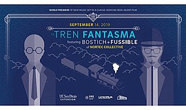 "Promotional graphic for the screening of ""El Tren Fantasm..."