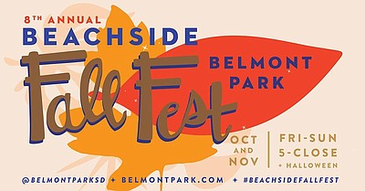 Promotional graphic for the Beachside Fall Fest at Bellmo...