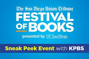 Graphic logo for San Diego Union-Tribune's San Diego Festival of Books