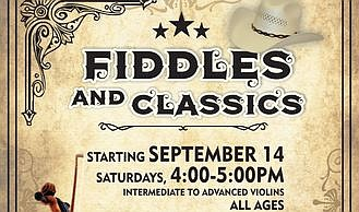 Promotional graphic for Fiddles And Classics. Courtesy of...