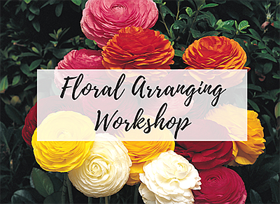 Promotional photo for the flower arranging workshop. Cour...