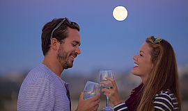 Promo graphic for San Diego Monthly Full Moon Cruises