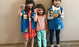 Promotional photo for One Book For Kids workshop with Girls Scouts San Diego