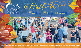 Promotional graphic for the 12th Annual Hallo-Wine Fall F...