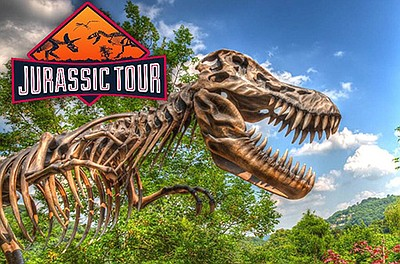 Promotional graphic for Jurassic Tour