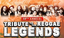 Promotional graphic for the Reggae Legends Festival. Cour...