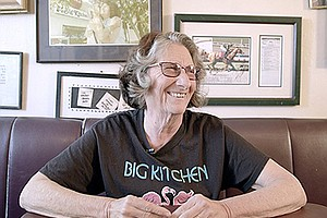 """Promotional photo of local restaurateur and activist Judy """"The Beauty"""" Forman."""