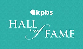 Promo graphic for KPBS Hall Of Fame 2019 Celebration