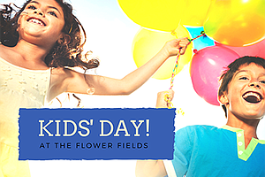 Promotional photo for Kids' Day. Courtesy of The Flower Fields at Carlsbad Ra...