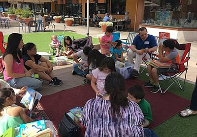 Photo from a previous StoryTent at Grossmont Center. Cour...