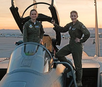 Promotional photo of actress Brie Larson and U.S. Air For...