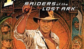 "Promotional film poster for ""Raiders of the Lost Ark"". Co..."