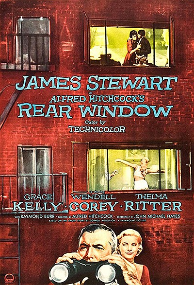 """Promotional film poster for """"Rear Window"""". Courtesy of IMDB."""