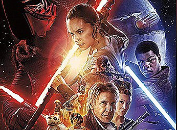 "Promotional graphic for ""Star Wars: The Force Awakens"". C..."