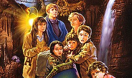 "Promotional graphic for ""The Goonies"". Courtesy of IMDb."