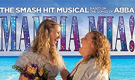 Promo graphic for 'Mamma Mia' At The Coronado Playhouse