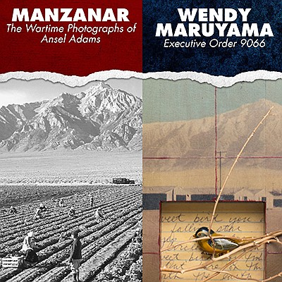 "Promotional graphic for the ""Manzanar: The Wartime Photog..."