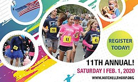 Promo graphic for Mitchell Thorp Foundation 5K Run/Walk...