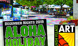 Promotional graphic for Aloha in the Village. Courtesy of...