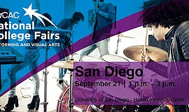 Promo graphic for San Diego Performing & Visual Arts Co...