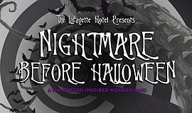 Promotional graphic for Nightmare Before Halloween party ...
