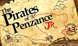 """Promotional graphic for """"The Pirates Of Penzance Jr."""" at ..."""