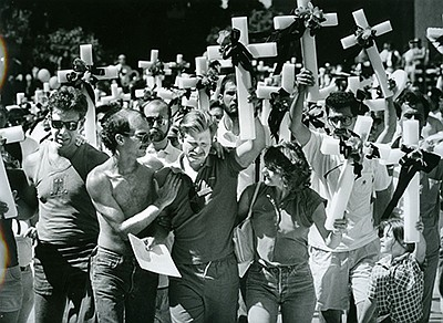 Historical photo: Rick Anderson march to city Hall in 198...