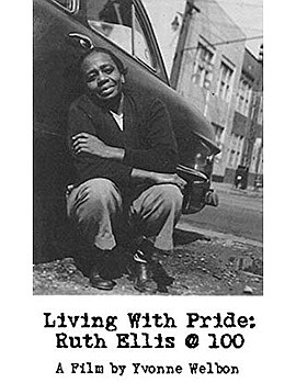 """Promotional graphic for the film, """"Living With Pride: Rut..."""