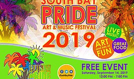 Promotional graphic for the 2019 South Bay Pride Art and ...