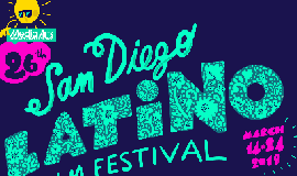 Graphic logo for the 26th San Diego Latino Film Festival....