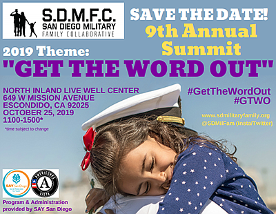 Promotional graphic for the SDMFC 9th Annual Summit. Cour...