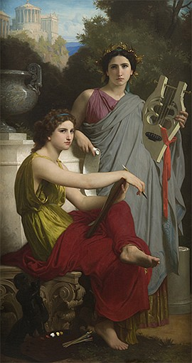 """Promotional photo of artwork for the """"Bouguereau & Americ..."""