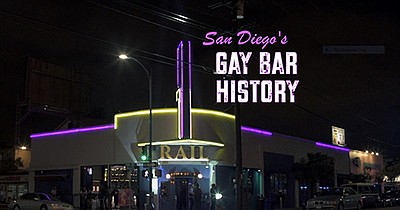 """Title graphic for the film, San Diego's Gay Bar History.""""..."""