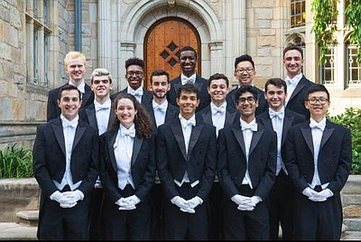 A photo of the 2018/2019 Whiffenpoofs, courtesy of the Ya...