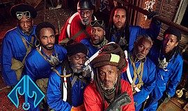 Promotional photo of Steel Pulse courtesy of Del Mar Racing.