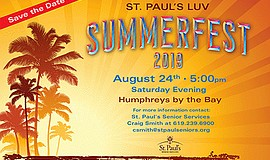 Promo graphic for St. Paul's Senior Services LUV Summer...