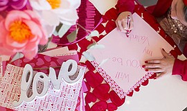 Photo from last year's Valentine's Day craft workshop. Co...