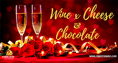 Promotional graphic for the Wine, Cheese & Chocolate Vale...